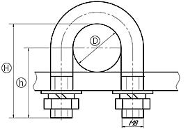 ХОМУТИКИ С437 - С442 чертеж