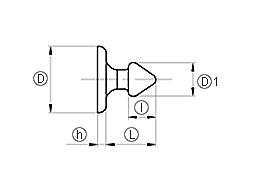 Кнопка для ленты монтажной ЛМ5, ЛМ10